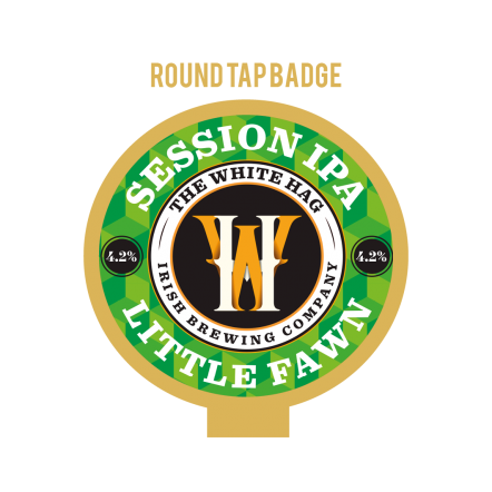 White Hag Little Fawn tap badge