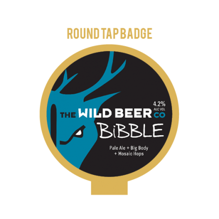 Wild Beer Co Bibble Tap Badge