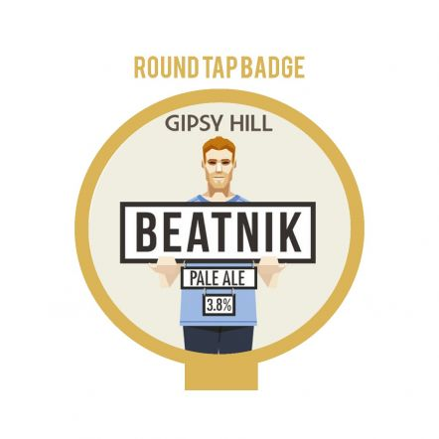 Gipsy Hill Beatnik Round badge