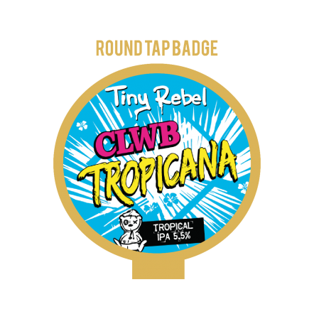 Tiny Rebel Clwb Tropica Tap Badge