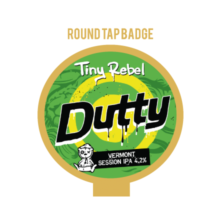 Tiny Rebel Dutty Tap Badge