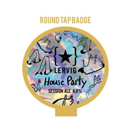 Lervig House Party Tap Badge