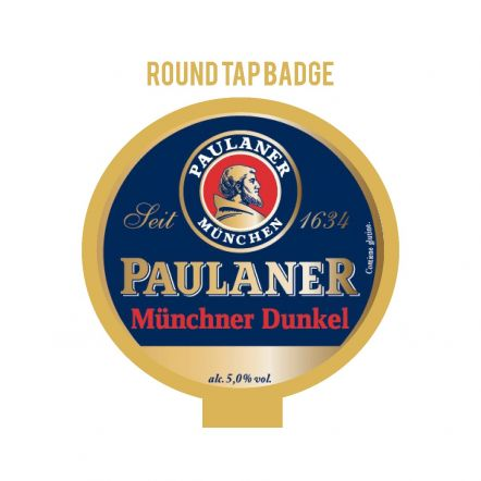 Paulaner Munich Dunkel Tap Badge