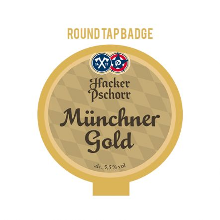 Hacker-Pschorr Gold Tap Badge