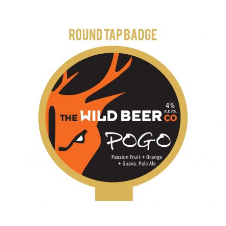 Wild Beer Co Pogo Tap Badge