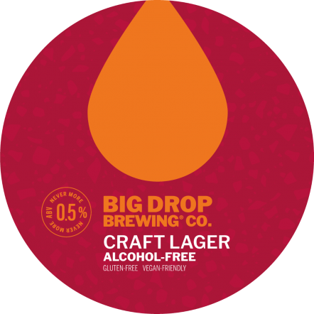 Big Drop Uptown Craft Lager (BBE 1.6.20) (Gluten & alcohol free)
