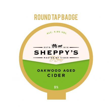 Sheppy's Cider Oakwood Tap Badge