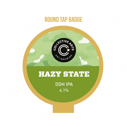 Collective Arts Hazy State Tap badge