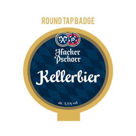 Hacker-Pschorr Kellerbier (Anno 1417) Tap Badge