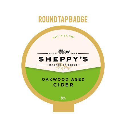 Sheppy's Cider Oakwood Tap Badge