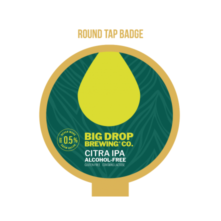 Big Drop Paradiso Citra IPA Round Badge