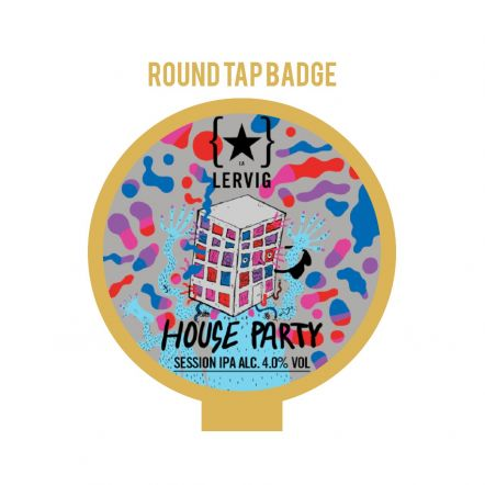 Lervig House Party Tap Badge SILVER FOIL