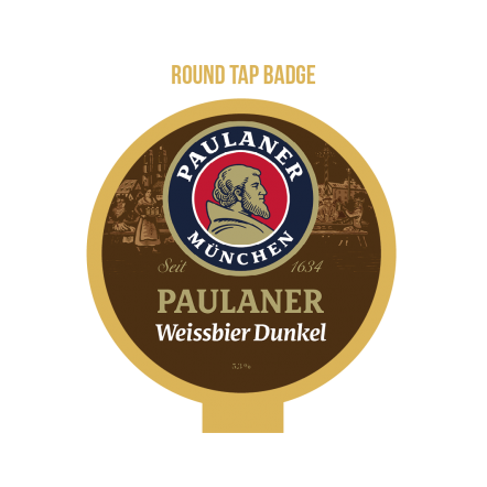 Paulaner Weissbier Dunkel Tap Badge