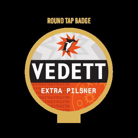 Vedett Extra Pils Tap Badge