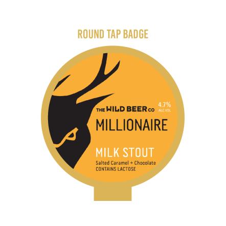 Wild Beer Co Millionaire Tap Badge