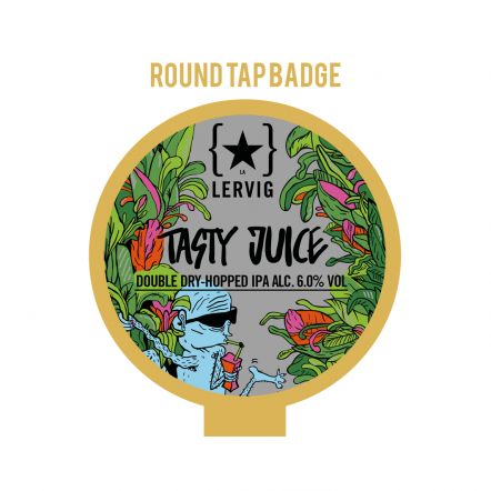 Lervig Tasty Juice Tap Badge